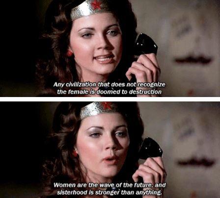 First episode of #WonderWoman, 1975 #feminism
