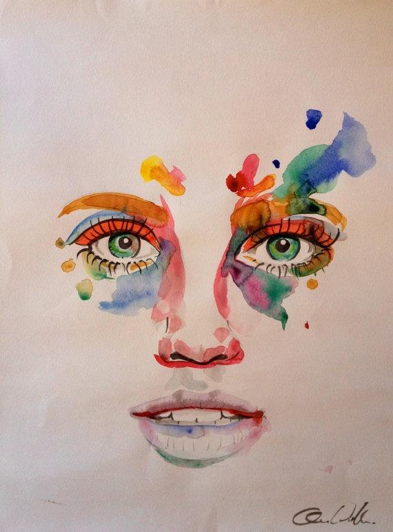 ColourfulGreen Eyes by AnnaWallman on Etsy, $80.00