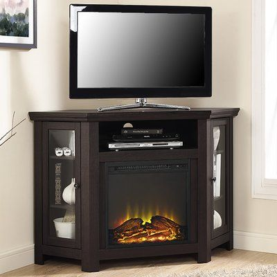 Mistana Tieton Corner 48 Tv Stand With Fireplace Finish Products