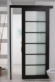 black pantry with frosted glass panels - Google Search