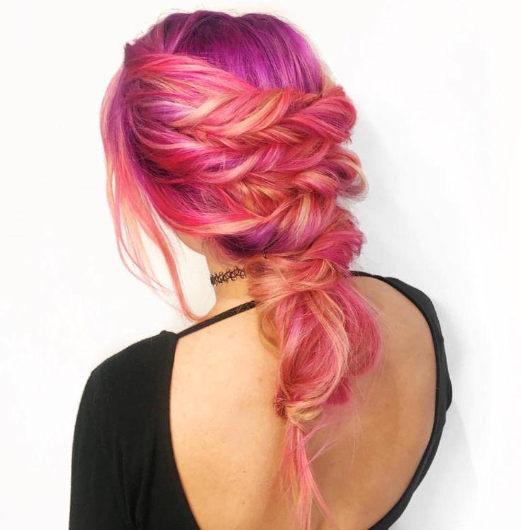 "7,174 Me gusta, 31 comentarios - Pulp Riot Hair Color (@pulpriothair) en Instagram: ""@balayageandbraids is the artist... Pulp Riot is the paint."""