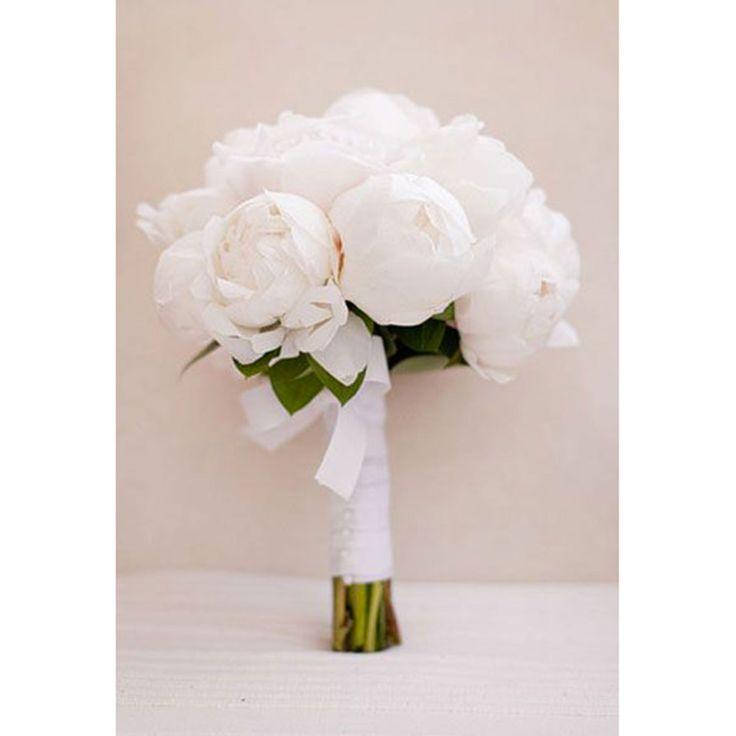 Un bouquet de pivoines blanches