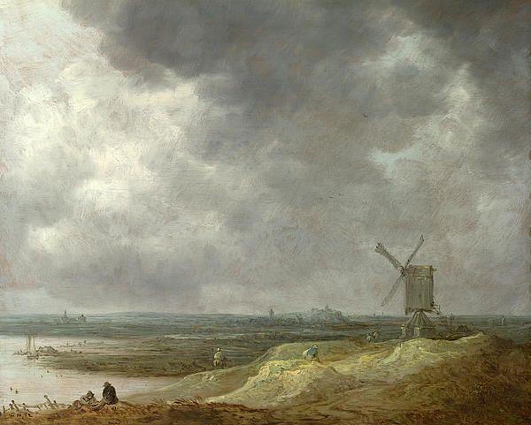 A Windmill By A River, Jan van Goyen, 1642