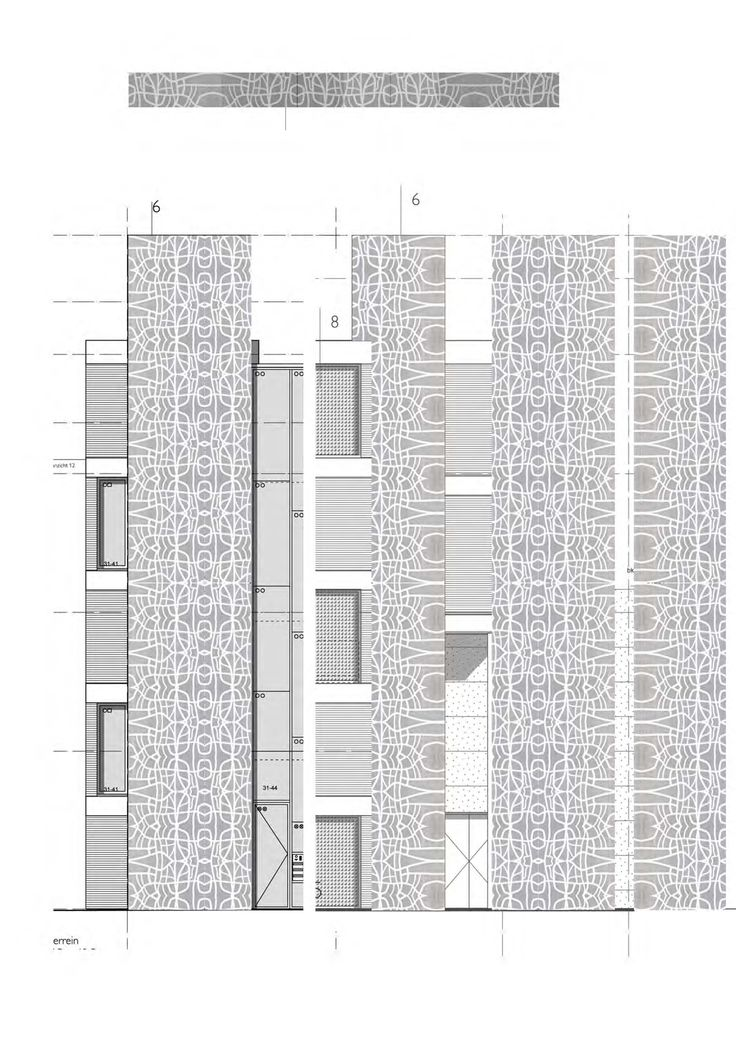 Facade detail tower patron 2012. Design for Jeanne Dekkers Architectuur. Netherlands