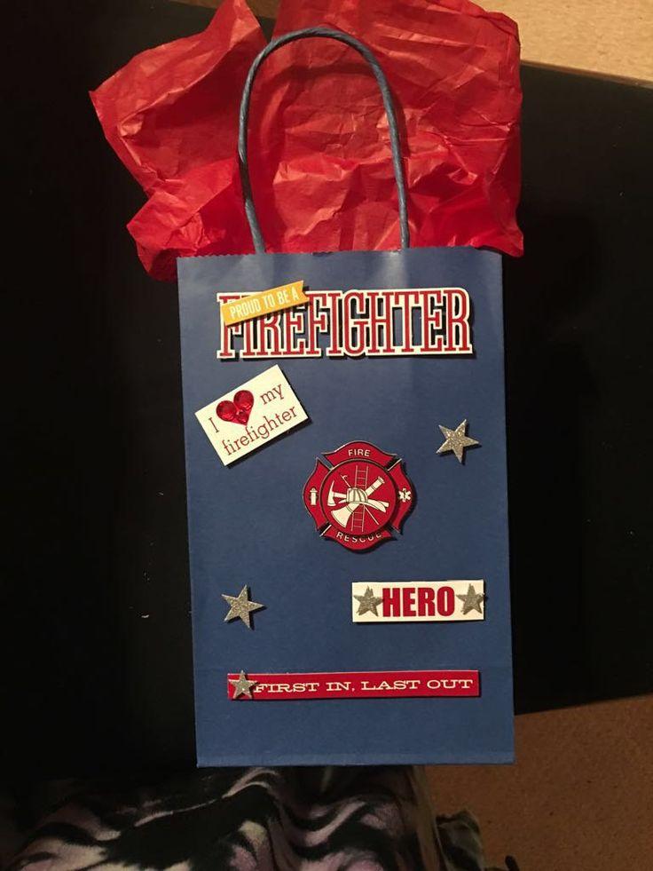 Firefighter Gift Bag by BagsAndTagsByDebra on Etsy