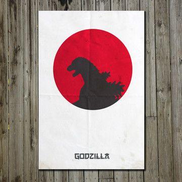 Godzilla 11x17, $18, now featured on Fab.