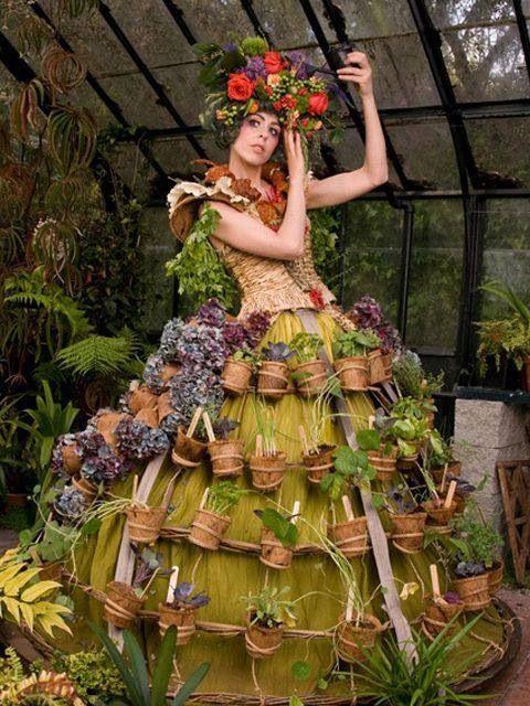 Nicole Dextras' Mobile Garden Dress