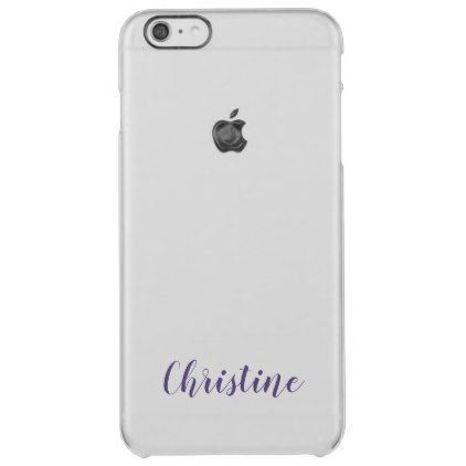 Ultra Violet Name Dark Purple Trendy Typography Clear iPhone 6 Plus Case - simple clear clean design style unique diy