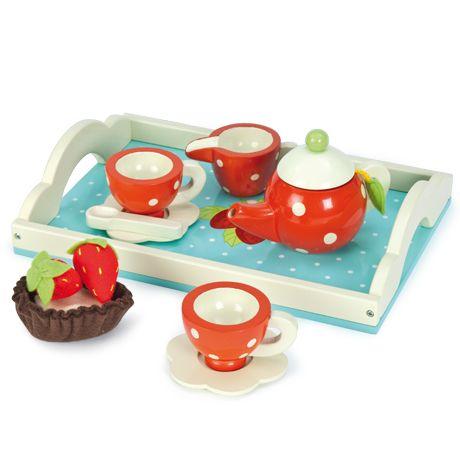 SKLADEM : dřevěný čajový set