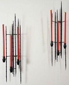 KERZENHALTER - mid century modernist metal art jere bertoia ära 50er/60er jahre