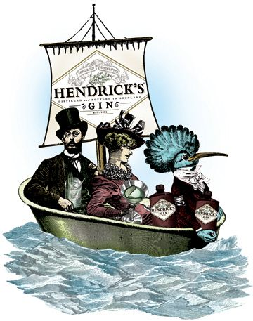 Norris and the Flamingo: The Art of Hendrick's Gin