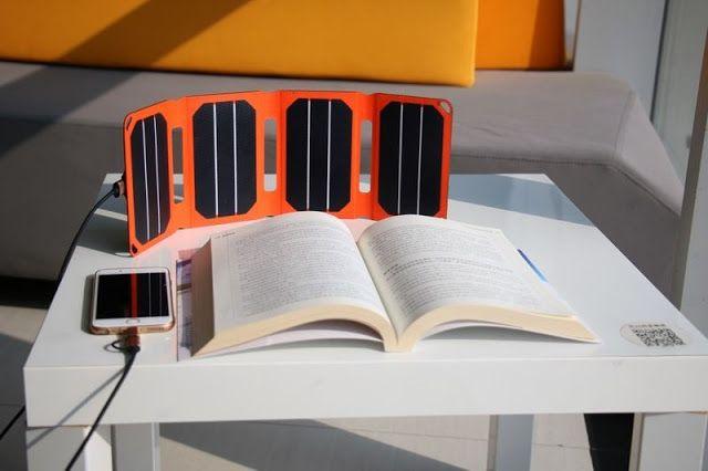 El cargador solar  'PocketPower' está listo para usar en cualquier lugar