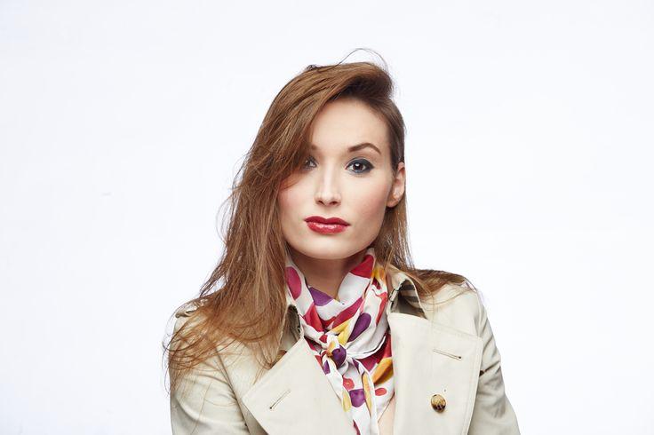 #MadeInPoland #SilkScarf #MagdaAtkins