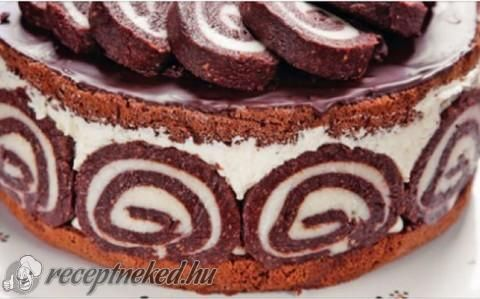 Keksztekercs torta recept fotóval