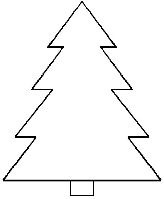 It is a picture of Eloquent Printable Christmas Tree Template