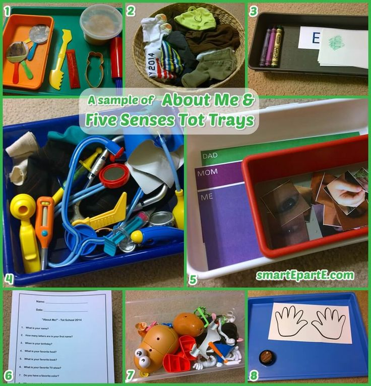 Here is a sample of what we did for back to school time in homeschool - About Me and Five Senses Tot School! He loved looking at how his clothes have grown!