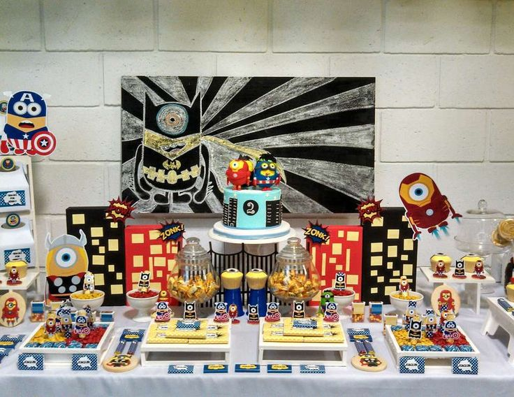 "Despicable Me / Minions / Birthday ""Minions Avengers Party"" 