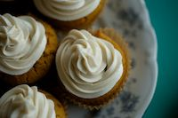 Gluten-Free Vegan Pumpkin Cupcakes: Gluten-Free Pumpkin Cupcakes with Vegan Cinnamon Frosting. For Cami I omitted the cinnamon and used rice milk instead of coconut milk