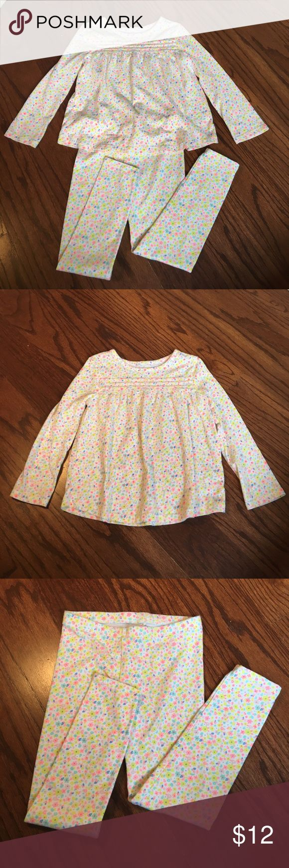 Cat & Jack Floral Top with Matching Leggings Cat & Jack Floral Top with Matching Leggings Cat & Jack Matching Sets