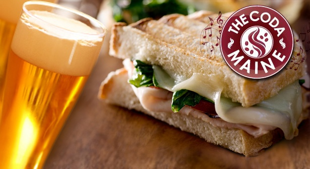 Kick back & chill out at The Coda Maine – snack upon a scrummy toastie or panini plus a glass of wine, beer or non-alcoholic beverage each