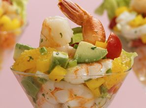 Shrimp Salad Go all out with this sophisticated salad served in a martini glass and topped with Girard's Champagne Dressing. From Marzetti Kitchens℠.