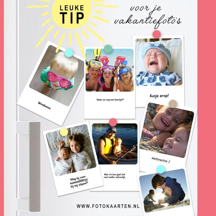 Leuke tip voor je vakantiefoto's. Laat ze printen bij Fotokaarten.nl met een grappige tekst erbij. Zo vergeet je die mooie vakantie nooit meer. www.fotokaarten.nl