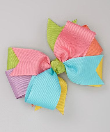 Take a look at this Pink & Blue Pastel Bow Clip by Fairy Bow Mother on #zulily today!