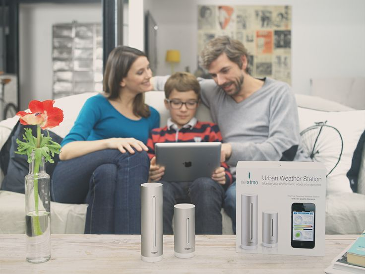 The Netatmo Weather Station - analyse the measurements from your Tablet of your station with the whole family.