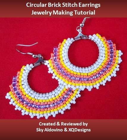 Circular Brick Stitch Earrings Jewelry Making Tutorial