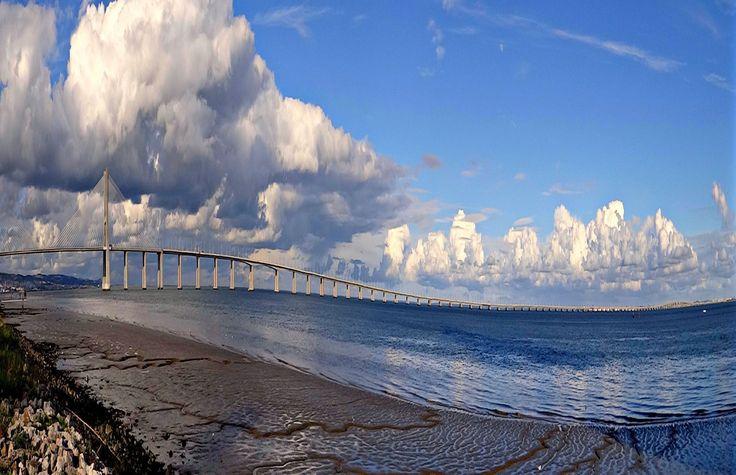 Lisbon Vasco de Gama bridge by Péter Antal Vincze | GuruShots