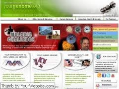 Yourgenome es una página web didáctica que pretende ayudar a comprender la Genética y los genomas. Elaborada por el Wellcome Trust Sanger Institute, presenta animaciones, actividades interactivas, actividades para profesores, un glosario, etc.