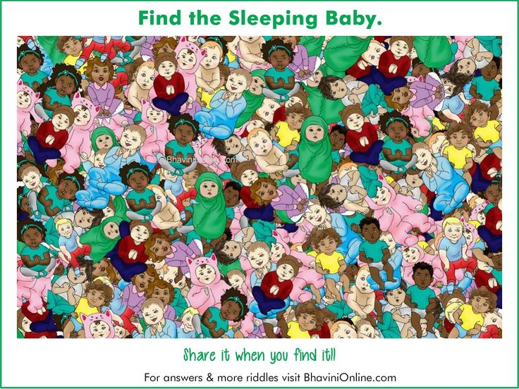 Picture Riddle Find the Sleeping Baby in the Given Image