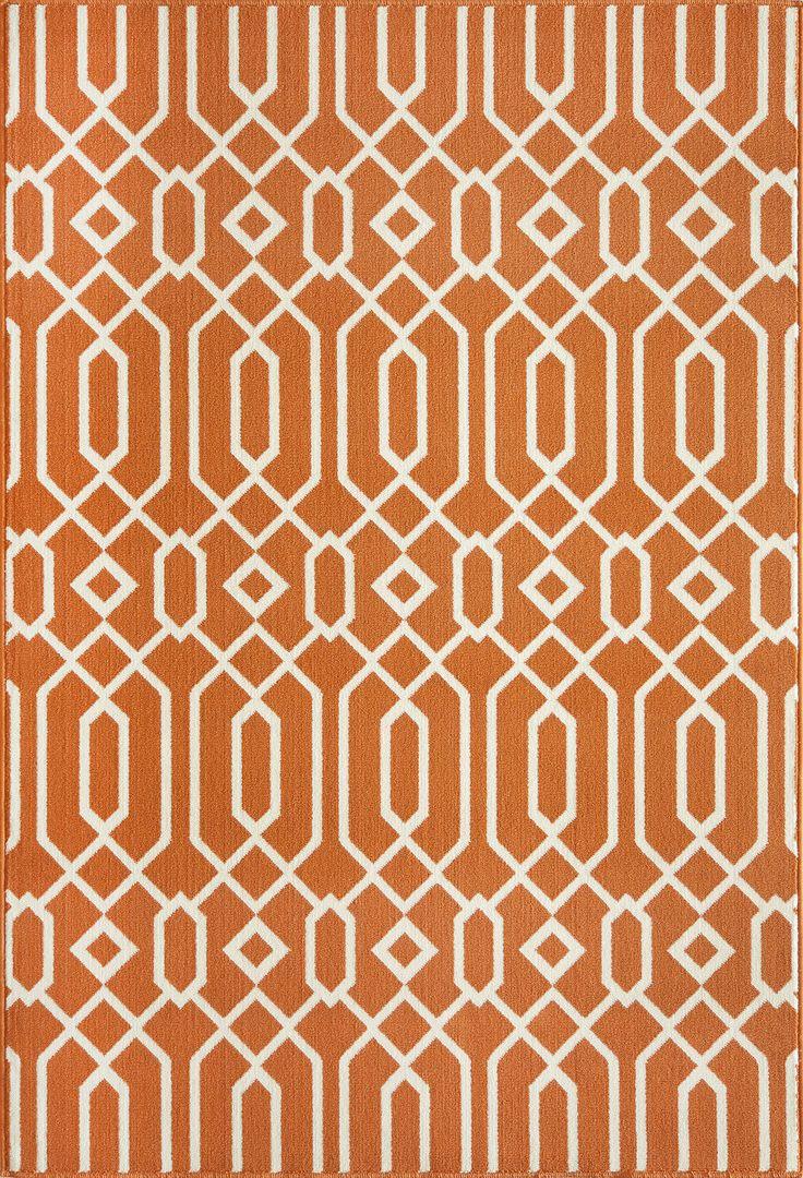 momeni baja orange rug wayfair
