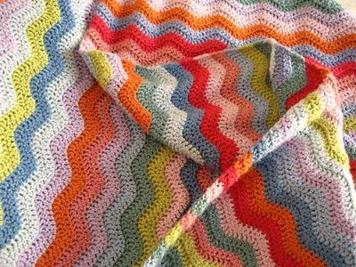 love how colorful this crocheted afghan is!