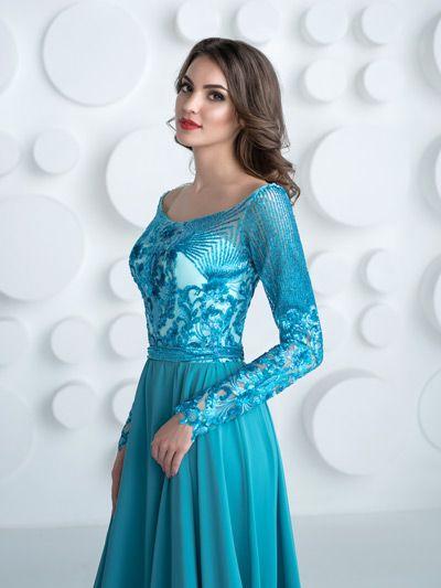 6ffed943e58 tyrkysové šaty s rukávmi pre svadobnú mamu