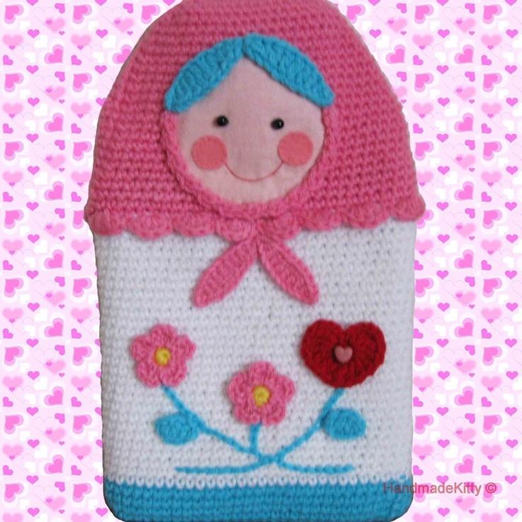 Russian Matryoshka Babushka Doll Hot Water Bottle Cover Amigurumi PDF Crochet Pattern. $4.99, via Etsy.