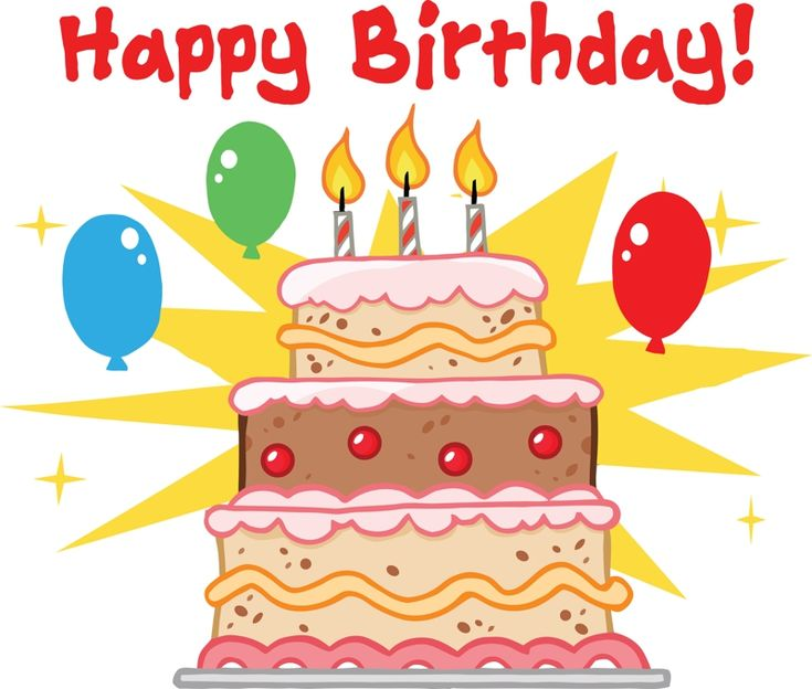 cartoon birthday cake clipart | happy birthday cake ...