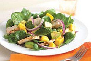 Chicken Mango Spinach Salad