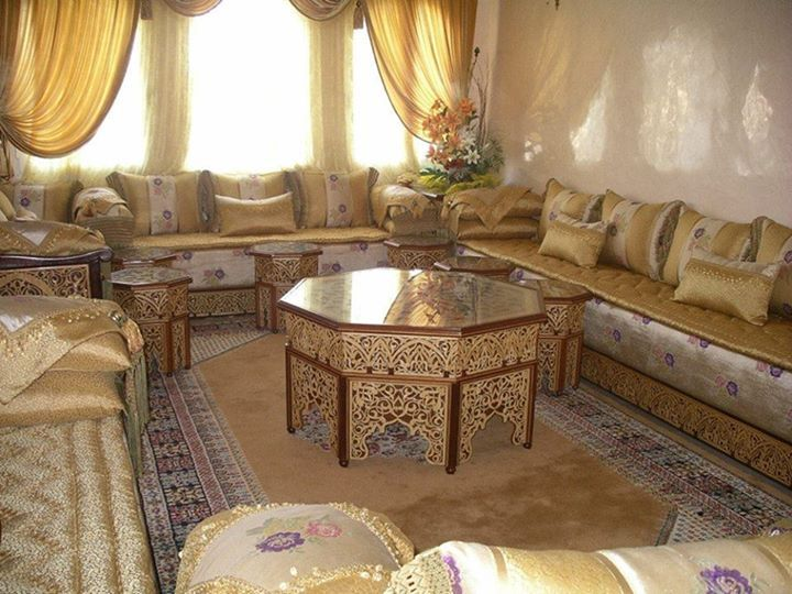 Tissu pour salon marocain moderne