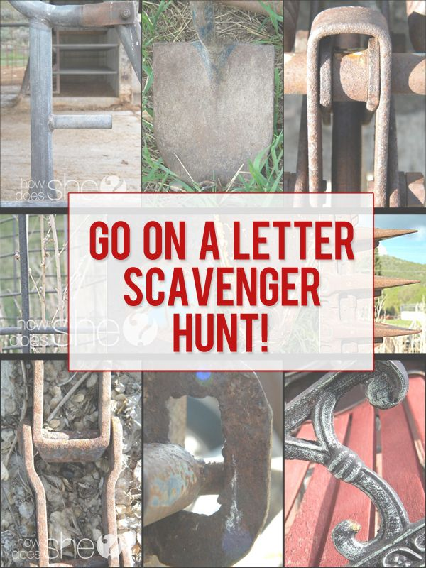 Letter Scavenger Hunt!! Find Alphabet Letters in Objects and turn them into Word Art! (I've seen versions of this in the store, but how cool would it be to make my own?!) >> Instructions at HowDoesShe.com #letterart #wordart #photography