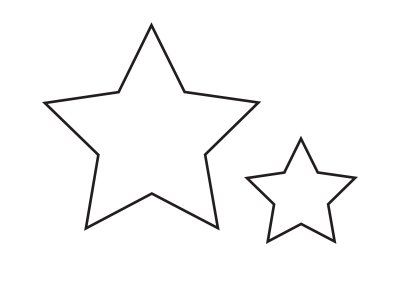Knight and Princess Birthday Party: felt star wand pattern