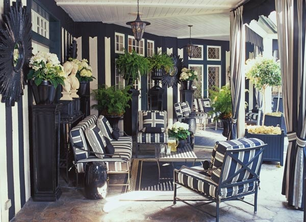 mary mcdonald: Blackandwhite, Interior, Marymcdonald, Black And White, Patio, Outdoor Room, Outdoor Spaces, Design