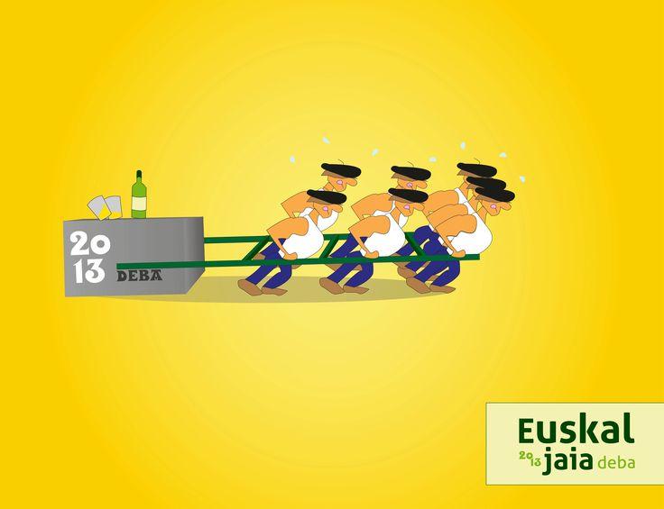 """poster design """"euskal jaia"""" #poster #design #deba  euskal jaia deba"""