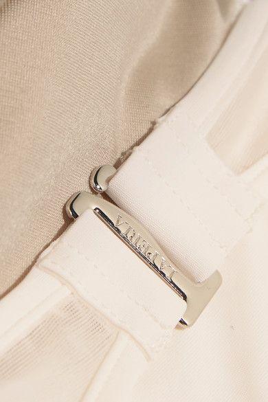 La Perla - Diagonal Touch Metallic-trimmed Jersey Bandeau Bikini Top - Ivory - IT 4