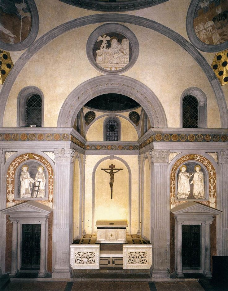 Old sacristy 1418 28 san lorenzo florence filippo for Interior iglesia san lorenzo brunelleschi
