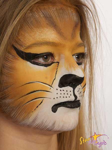 Leeuw schminken - Gerepind door www.gezinspiratie.nl #schminkspiratie #schmink #kids