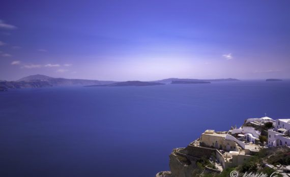 santorini sea Mediterranean blue sky white houses cliff greece