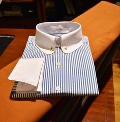 "langasastreria: ""Bespoke shirt with Eaton collar, just perfect elegance… """