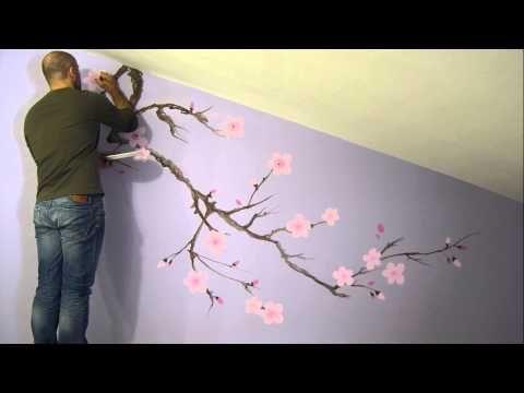 SAKURA CHERRY BLOSSOMS - DECORAZIONE MURALE - VIDEO IN STOP-MOTION - Giorgio Terranova | Decorazione di interni