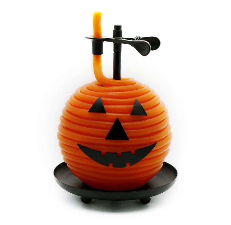 80 hour halloween pumpkin candle
